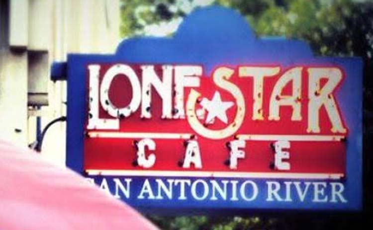 Lone Star Cafe sign